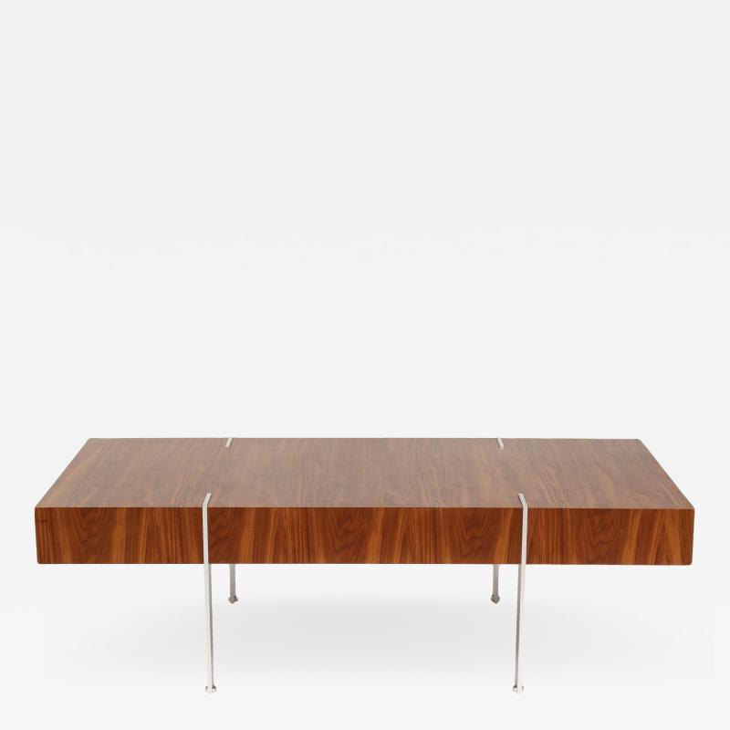 Modernist Walnut Coffee Table 1980s