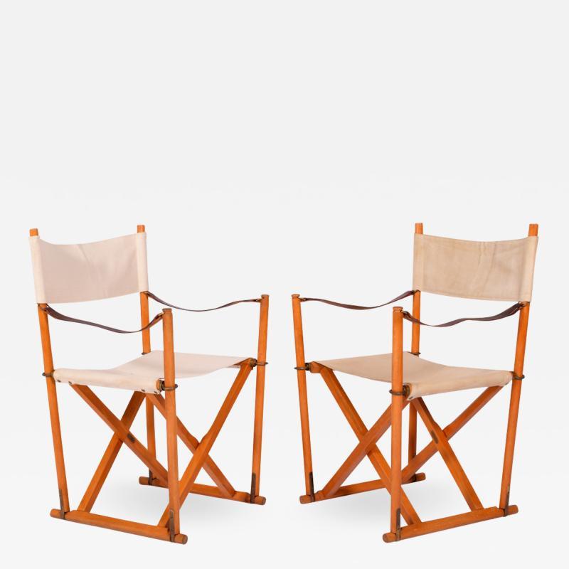 Mogens Koch Pair of Mogens Koch Mk 16 Folding Chairs