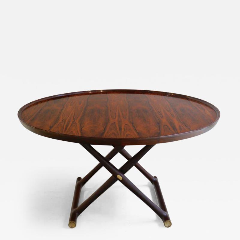 Mogens Lassen Mogens Lassen Egyptian Folding Table in Rosewood