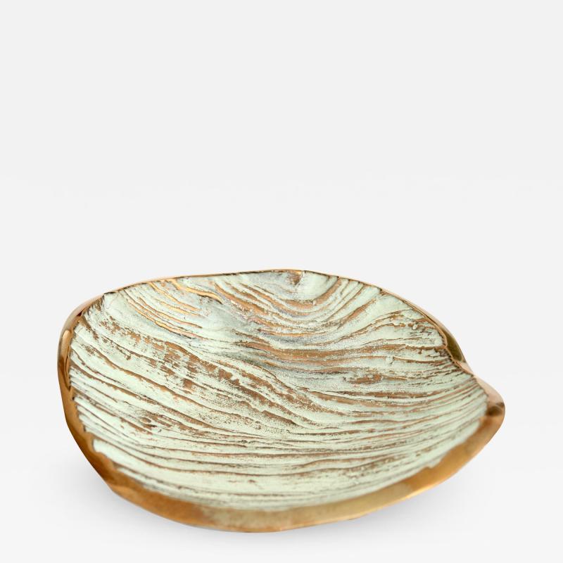 Monique Gerber Bronze Dish Designed by Serge Mansau for Monique Gerber Stratos Collection