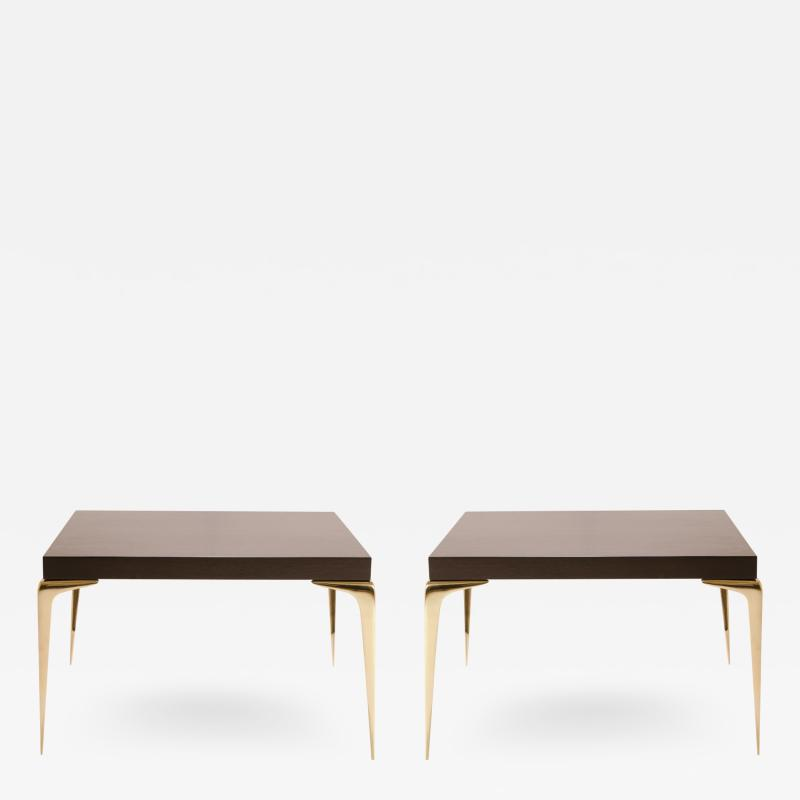 Montage Colette Occasional Tables Walnut in Ebony by Montage