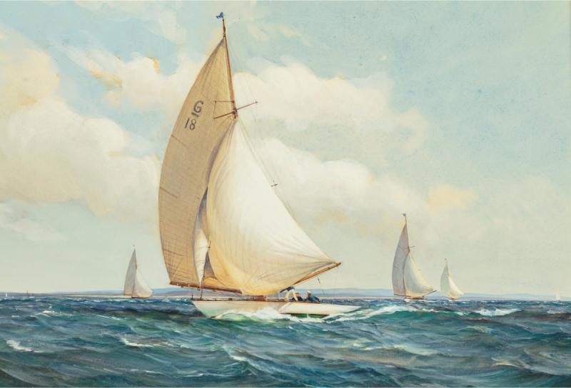 Montague Dawson Montague Dawson Racing Six Metre yachts