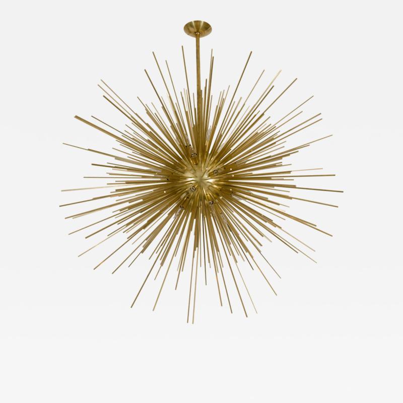 Monumental Brass Sputnik Chandelier