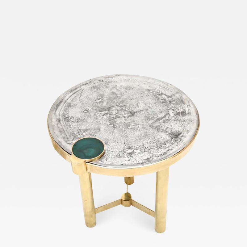 Moona Side Table Sculpted by Yann Dessauvages