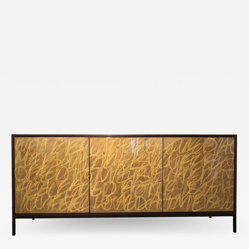 Morgan Clayhall The Gold Graffiti Cabinet by Morgan Clayhall