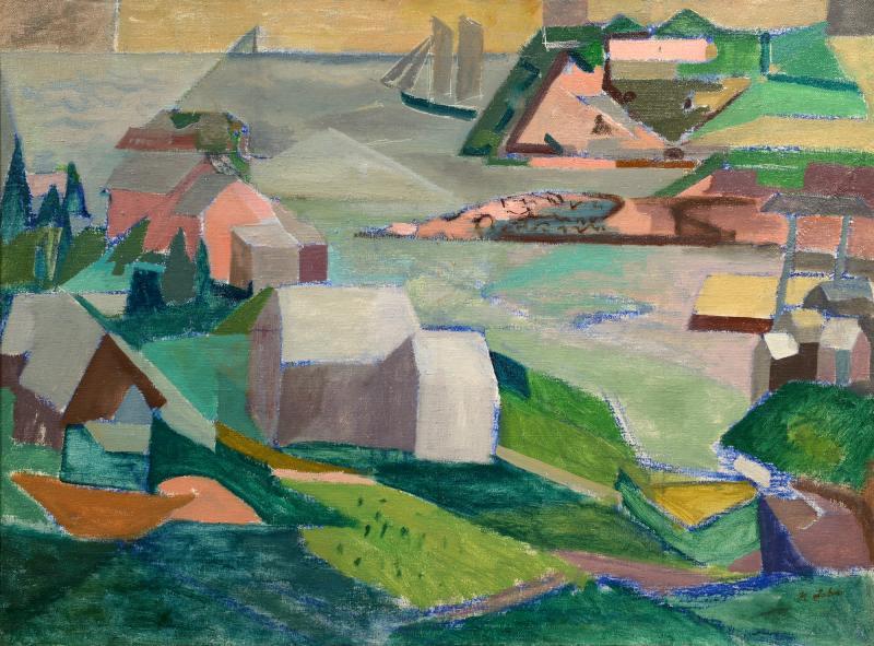 Morris M Shulman Monhegan Harbor