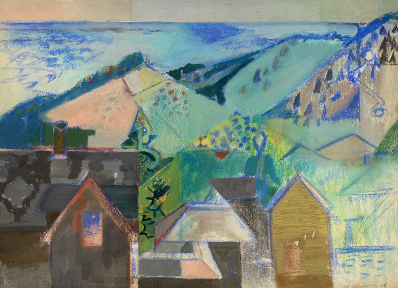 Morris M Shulman Monhegan Village Abstraction