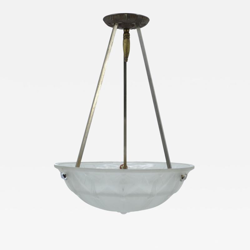Muller Fr res Muller Fr res French Art Deco chandelier