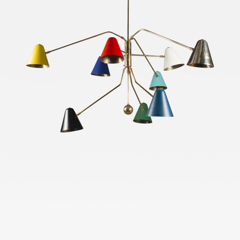 Multicolored Chandelier France 2019