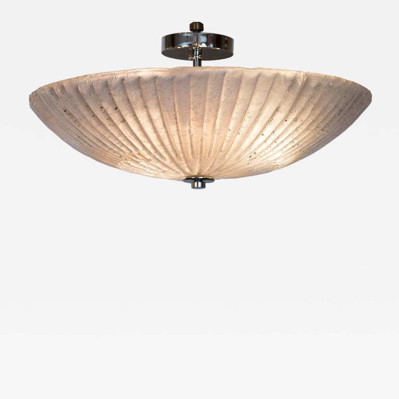 Murano Icy Opaque Ceiling Fixture Contemporary