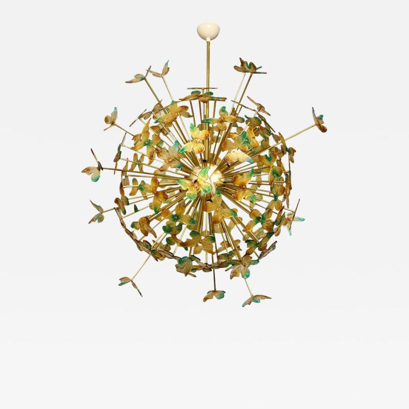 Murano Luxury Glass Murano Glass Butterfly Sputnik Chandelier