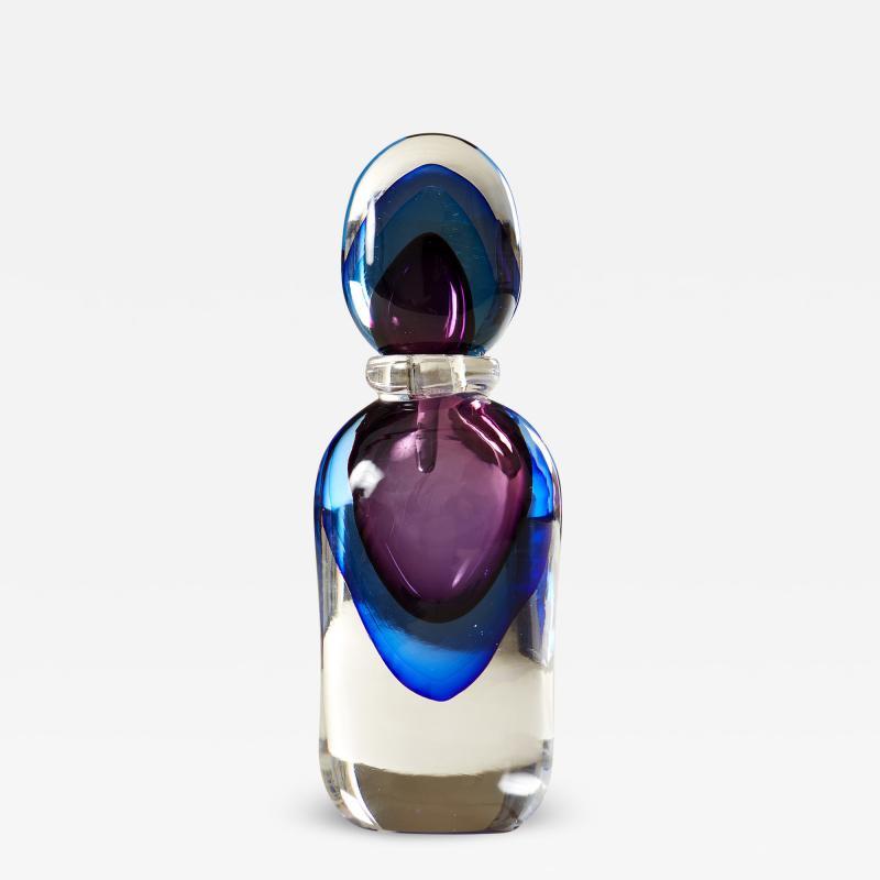 Murano blue and purple perfume bottle