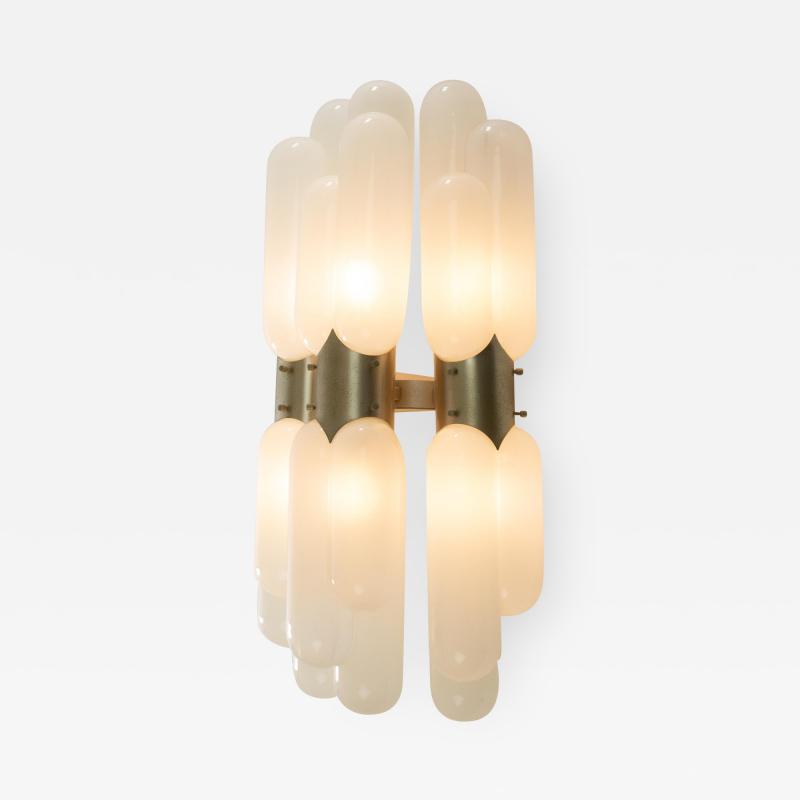 Murano glass tube wall lamp 1970s