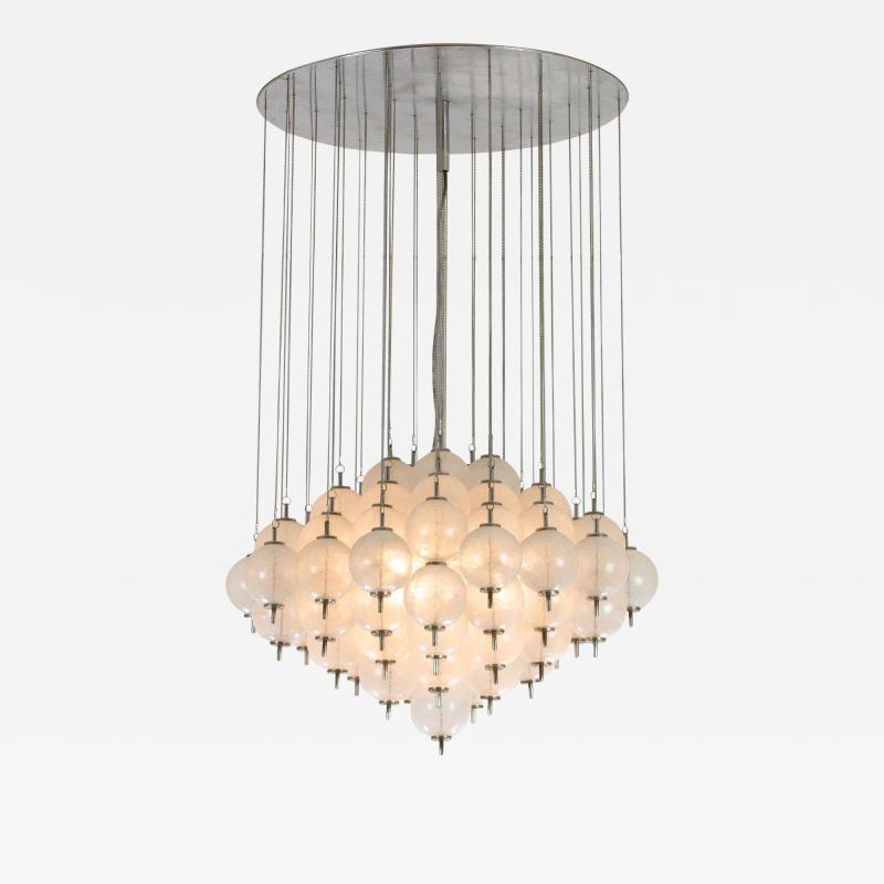 Murano pulegoso glass chandelier 1960s