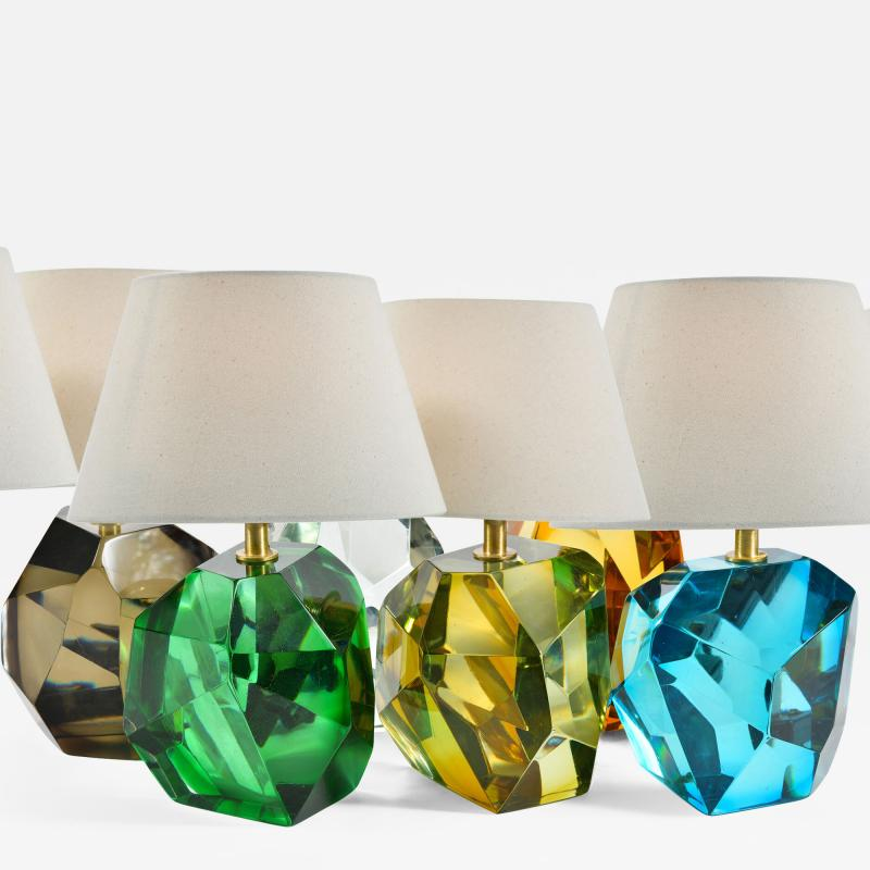 Murano rock table lamps