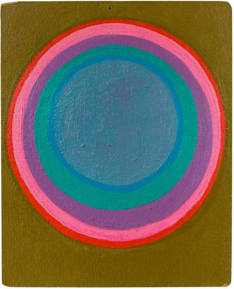 Murray Hantman Murray Hantman Abstract Painting on Board USA 1960s