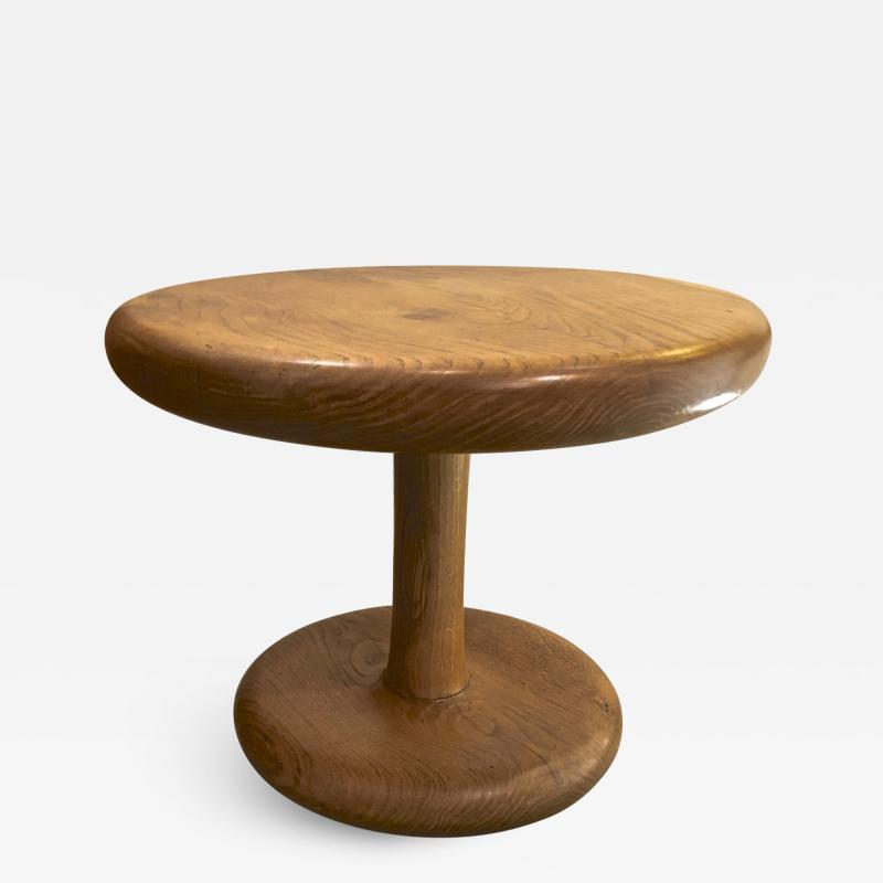 Mushroom shaped 50s rare oak coffee table