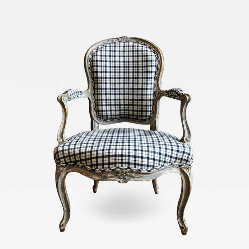 Nadal L Aine Louis XV Fauteuil Cabriolet Signed Nadal LAine circa 1760