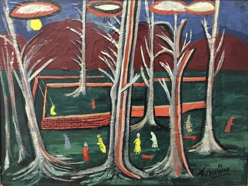 Nahum Tschacbasov Nine Figures in the Park