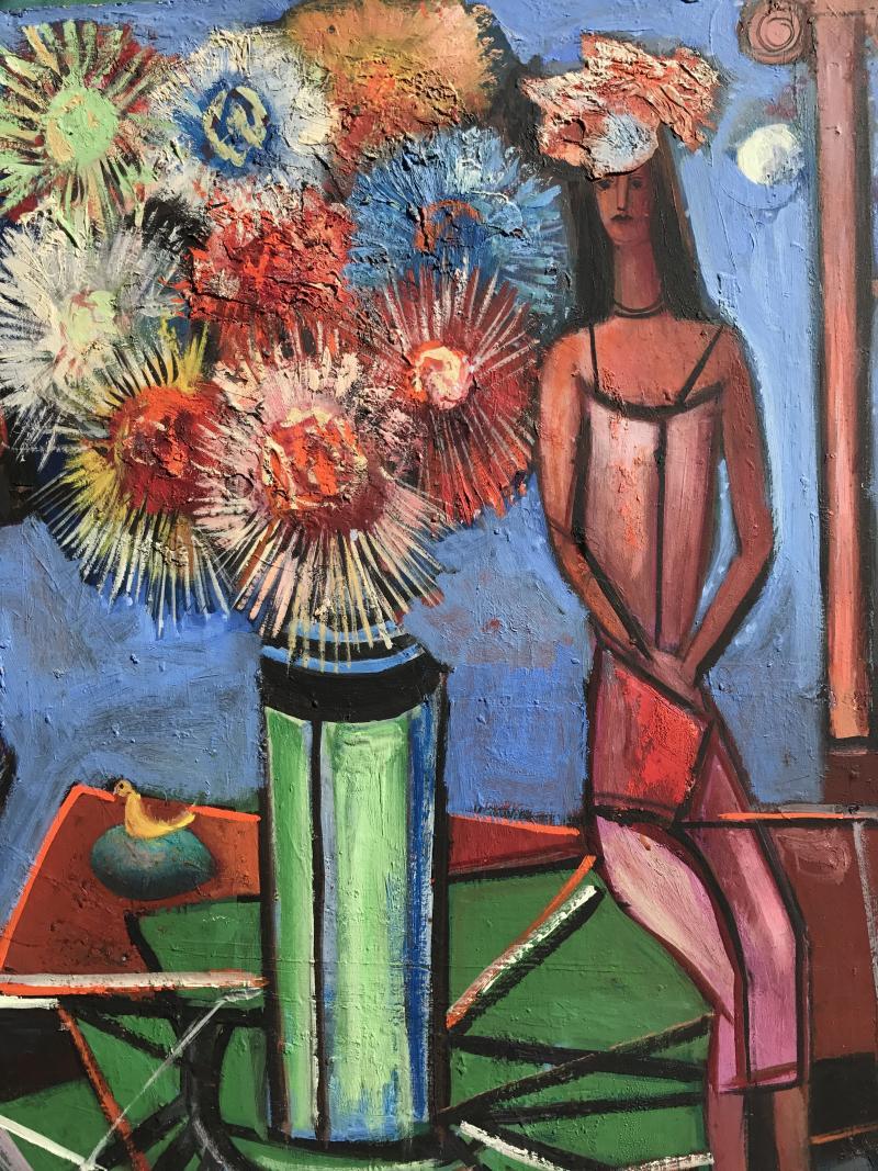 Nahum Tschacbasov Woman with Asters