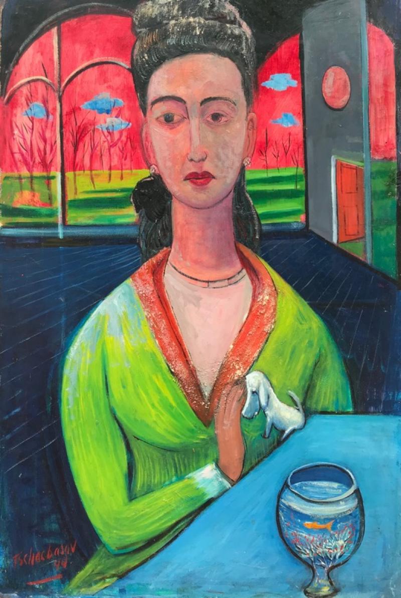 Nahum Tschacbasov Woman with Goldfish