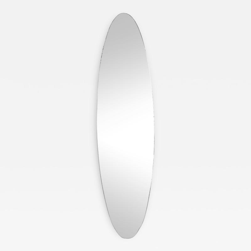Nail shaped mirror with oxidized glass 1960s