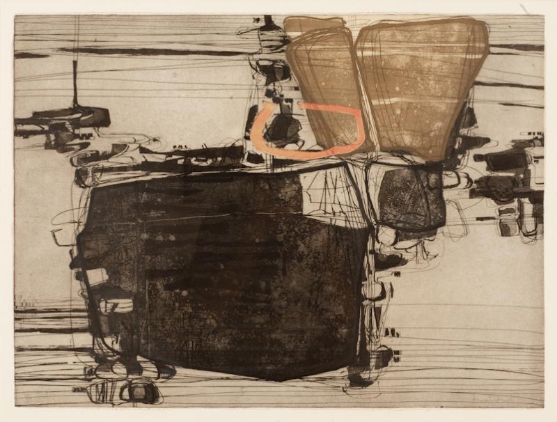 Najar Barsoumian Hratchaya Modern Black Abstract Engraving 10 60