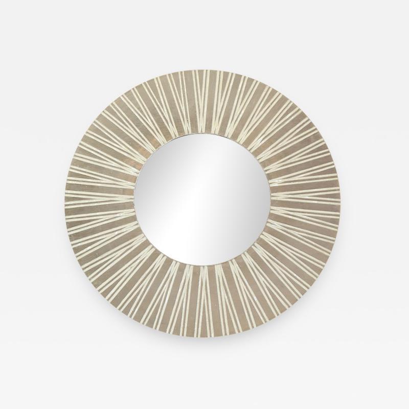 Nancy Lorenz Palladium and Pearl Radiating Mirror 2017
