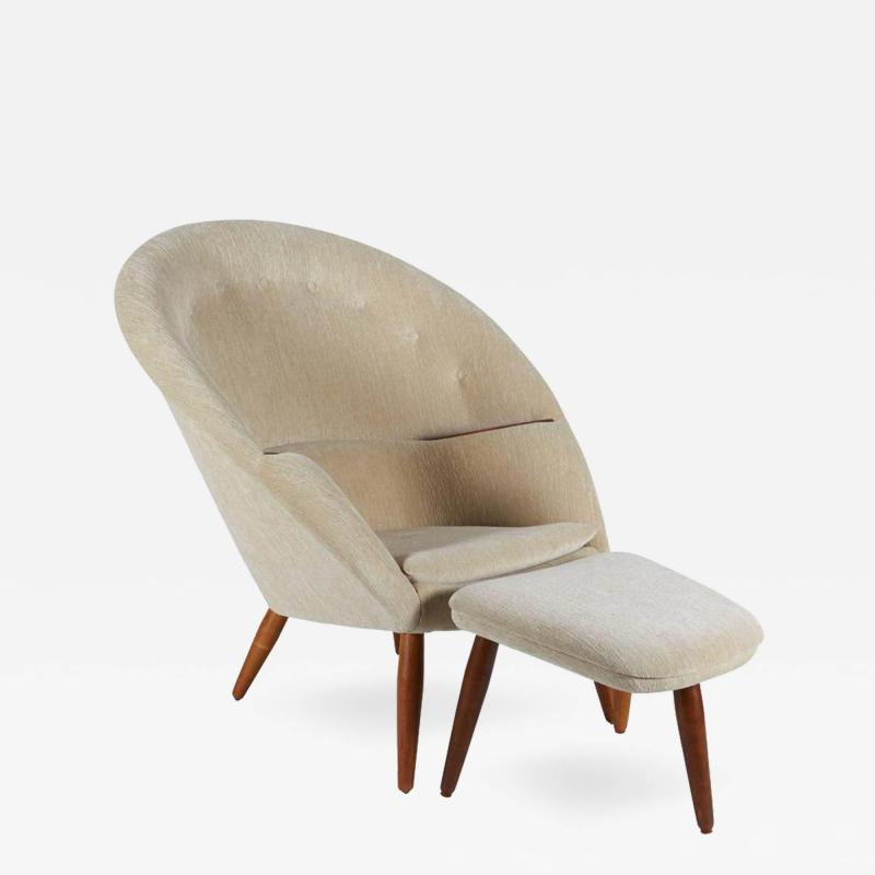 Nanna Ditzel Lounge Chair and Ottoman in the Style of Nanna Ditzel