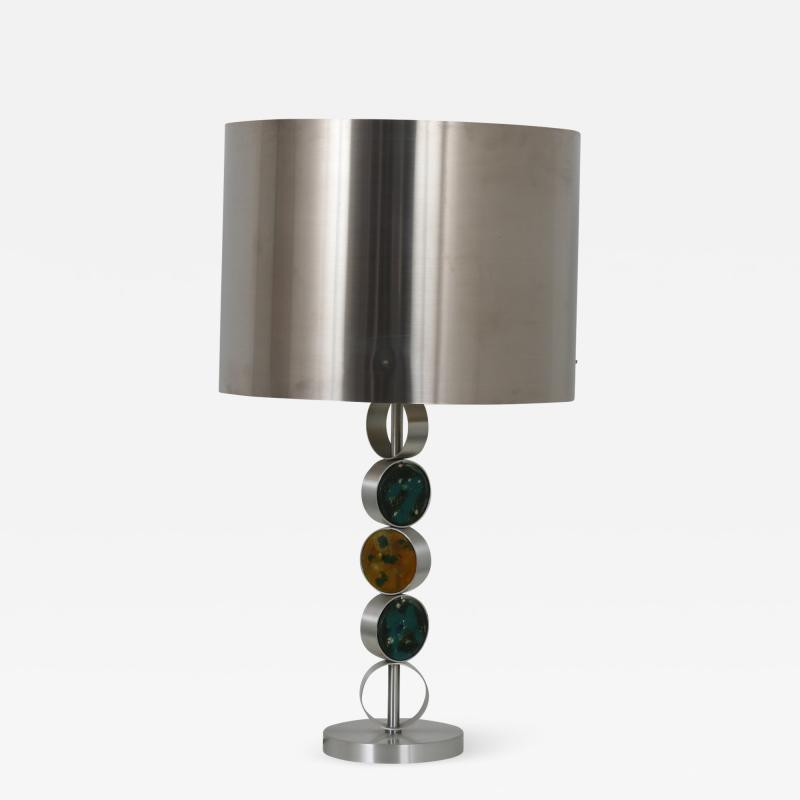 Nanny Still Chrome with Glass Table Lamp by Nanny Still for Raak Netherlands 1970