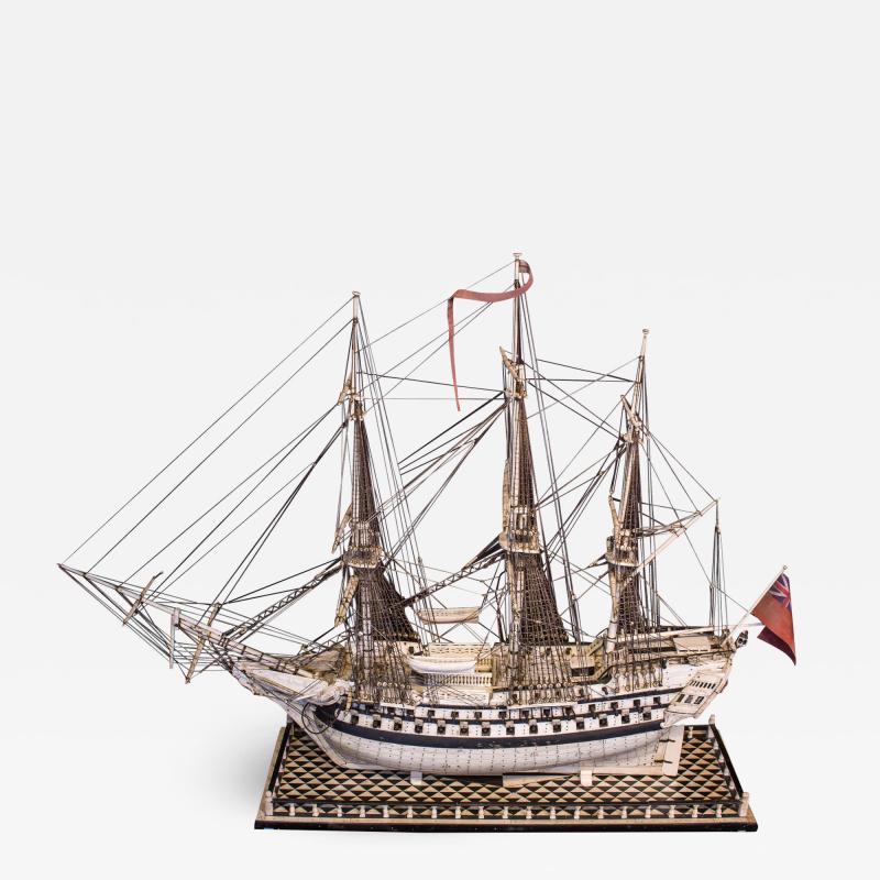 Napoleonic Prisoner of War Model of a 2nd Rate Ship of 72 Guns