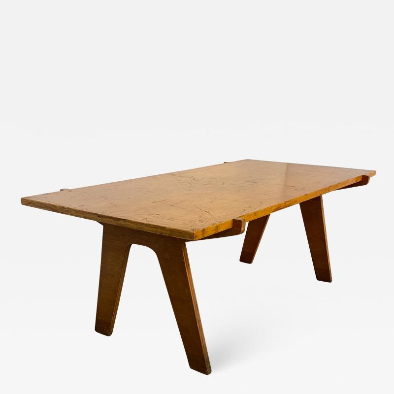 Nathan Lerner Architectonic Cut Plywood Mid Century Cocktail Table