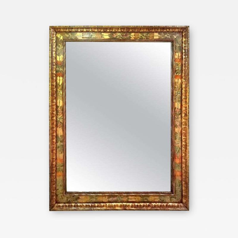 Nena Claiborne Art Deco Era Nena Claiborne Hand Painted Mirror