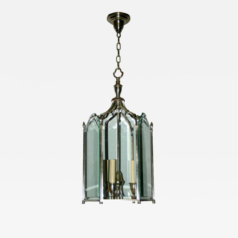 Neoclassic Style Silver Plated Lantern