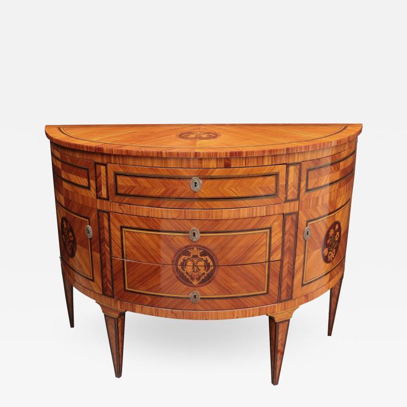 Neoclassical Demi Lune chest