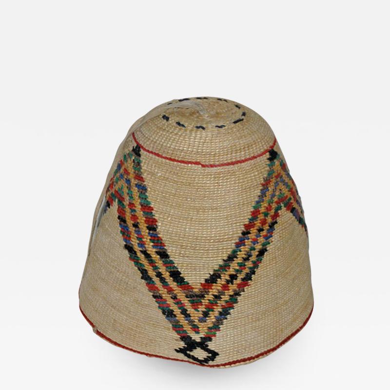 Nez Perces cornhusk and wool hat