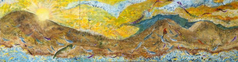 Nick Stavrides Amagansett Sunset by Nick Stavrides Oil on Canvas