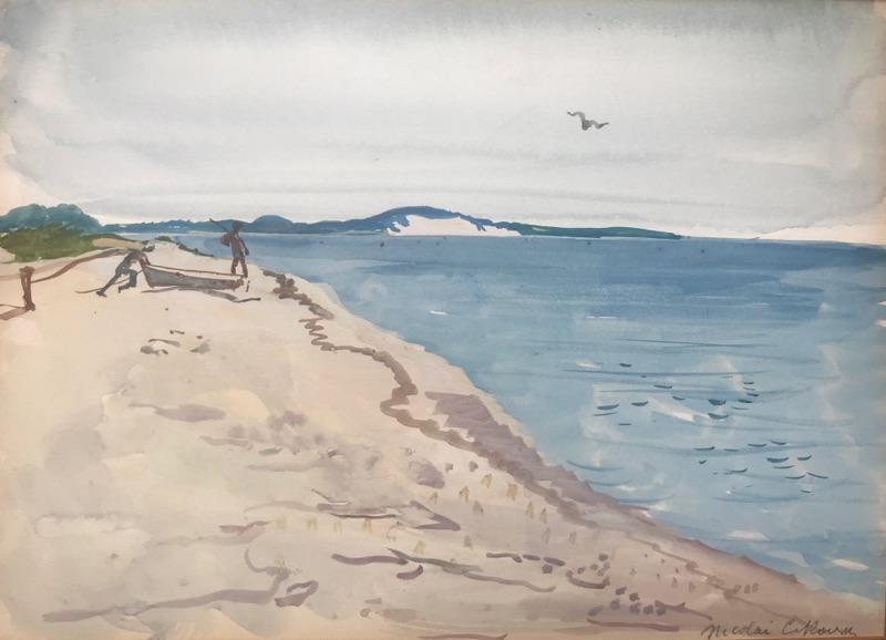 Nicolai Cikovsky Figures by Peconic Bay