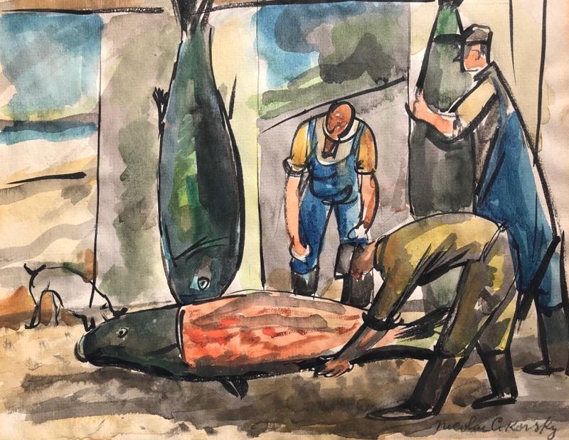 Nicolai Cikovsky Fish Mongers