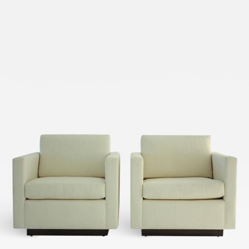 Nicos Zographos Pair of Nicos Zographos Tuxedo Lounge Chairs