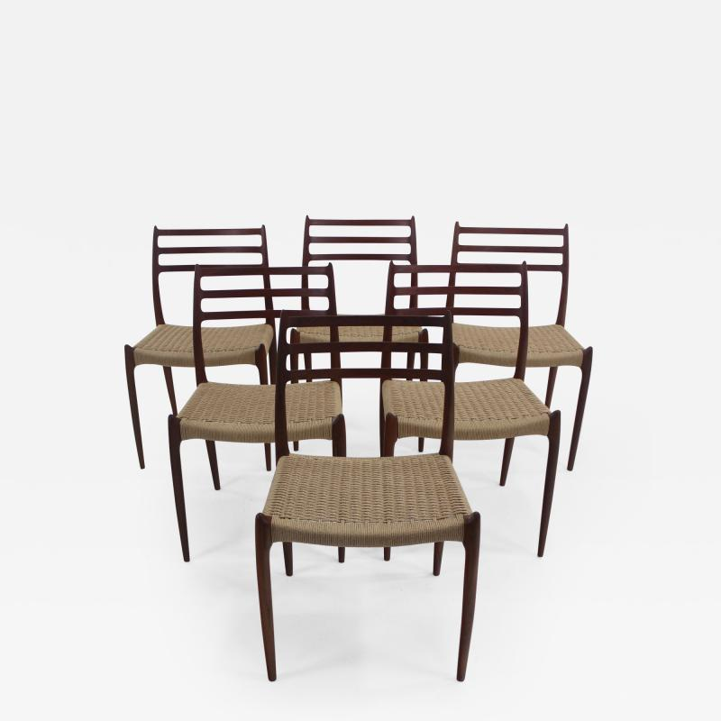 Niels Otto M ller Six Scandinavian Modern Dining Chairs Designed by Niels Moller