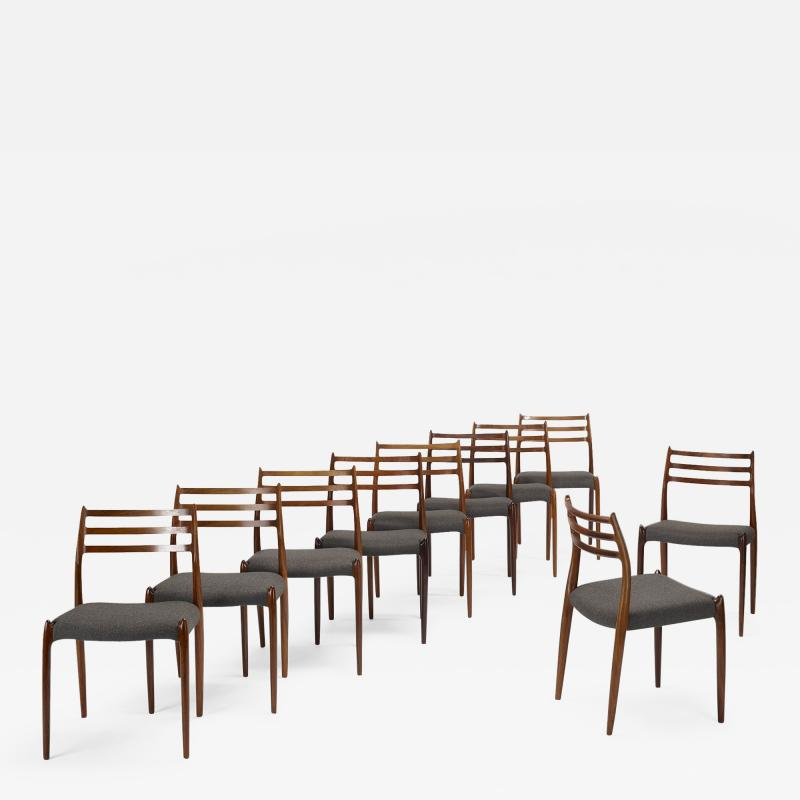 Niels Otto Moller Niels O M ller dining chairs set of ten