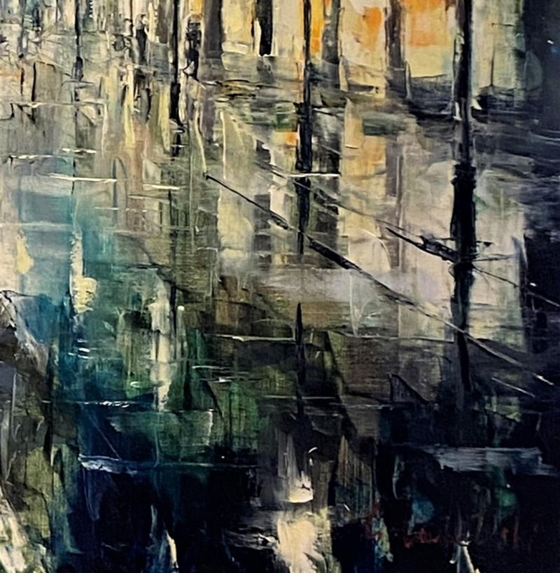 Night Walking Painting by Gleb Golubetski