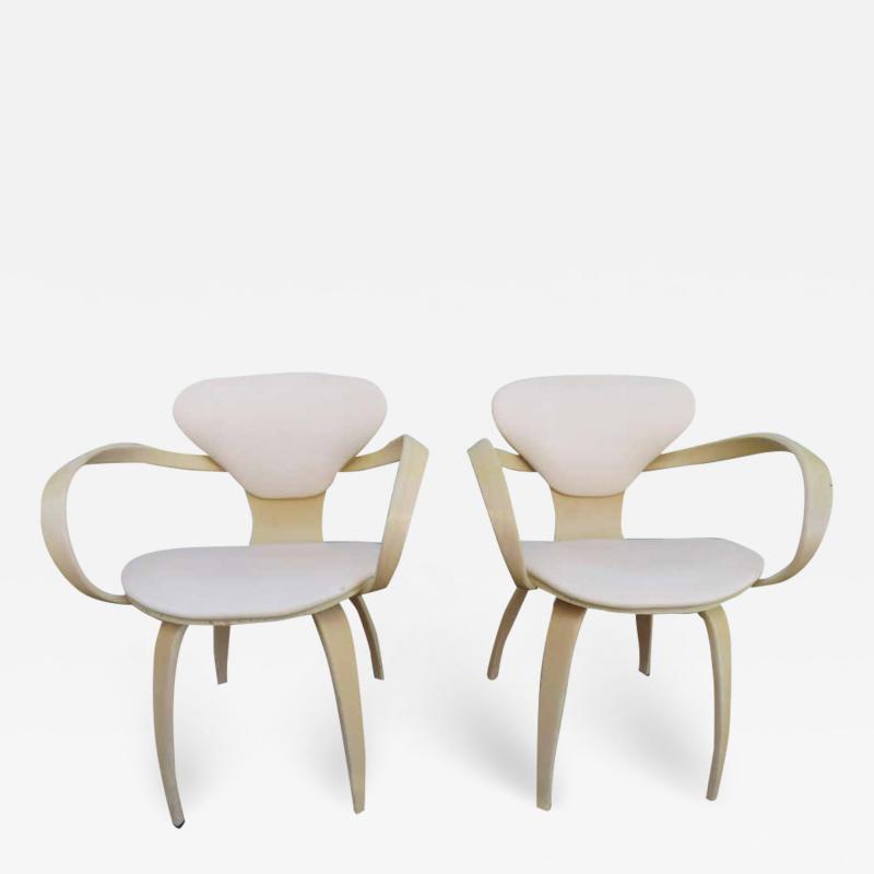 Norman Cherner Lovely Pair of Norman Cherner Plycraft Pretzel Chairs Mid Century Modern