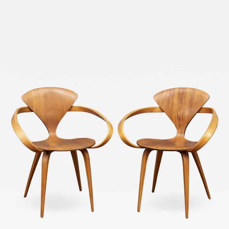 Norman Cherner Norman Cherner Pretzel Armchairs for Plycraft