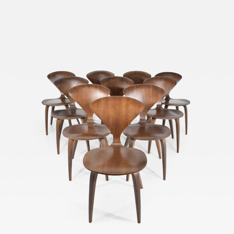 Norman Cherner Set of Ten Cherner Side Chairs
