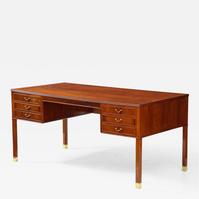 Ole Wanscher Ole Wanscher Mahogany Desk Circa 1950s Produced by A J Iversens