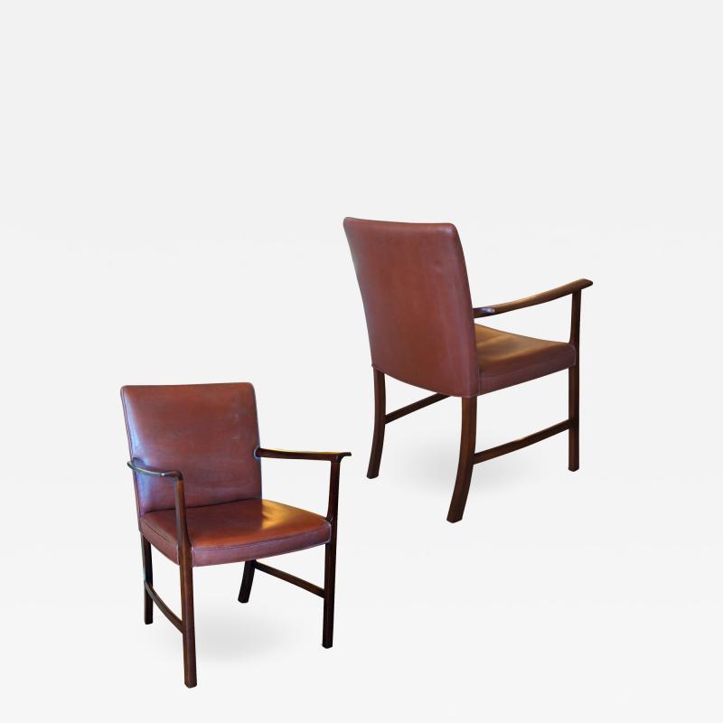Ole Wanscher Pair of Armchairs by Ole Wanscher