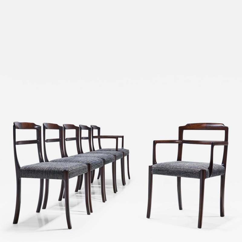 Ole Wanscher Set of Six Ole Wanscher Dining Chairs for A J Iversen Denmark 1960s