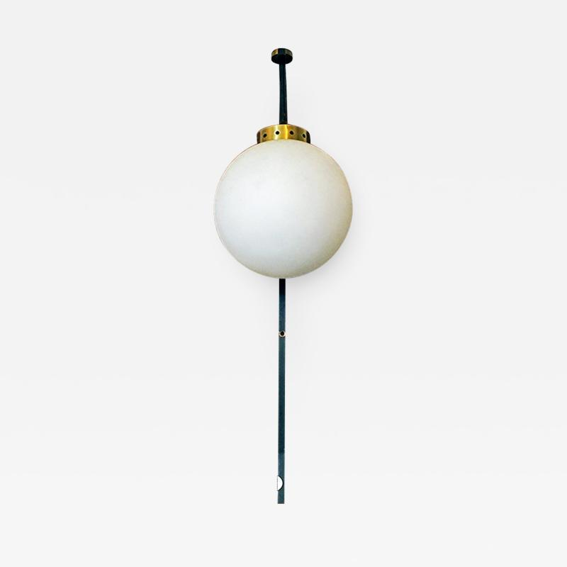 Opaline glass and brass wall lamp 1950s
